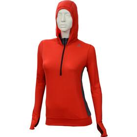 Aclima LightWool Hoodie Women High Risk Red/Iron Gate